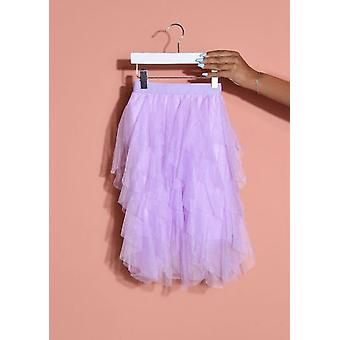 Tulle High Waisted Mini Gonna Lilac Viola