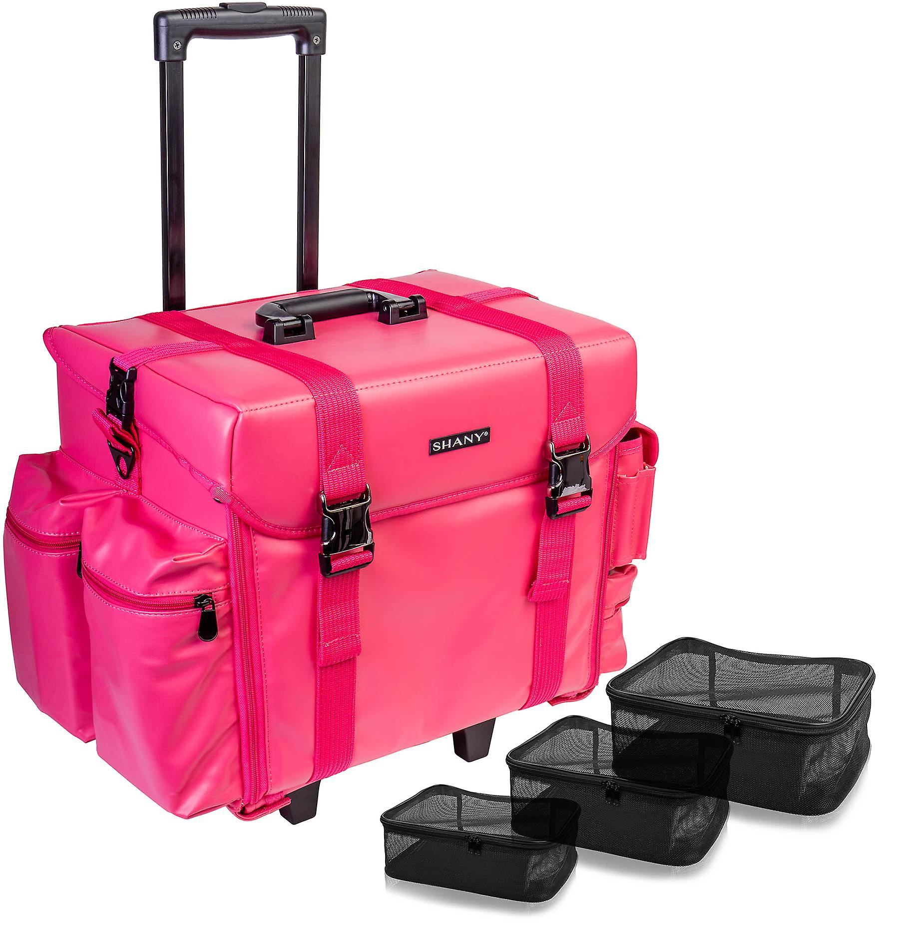 SHANY Makeup Artist Soft Rolling Trolley Cosmetic Case with Free Set of Mesh Bag