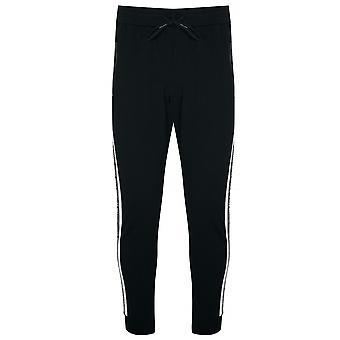 安东尼·莫拉托运动黑色胶带手臂标志慢跑裤子