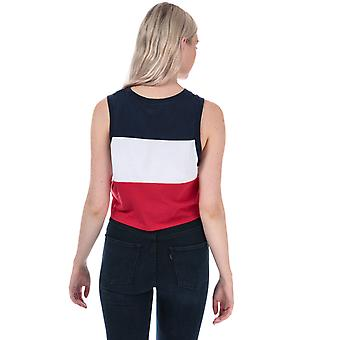 Womens Levi's Graphic Colourblock Tank In Navy / Red