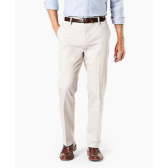 Dockers Men's Straight Fit Signature Khaki Lux, Cloud - Creased, Size 36W x 30L