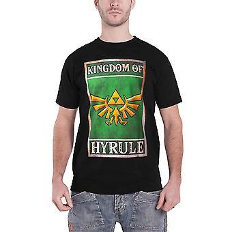 Zelda T Shirt Kingdom of Hyrule Propaganda Logo new Official  Mens Black