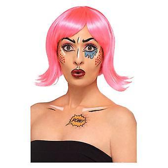 Dame pop art make up kit fancy kjole tilbehør