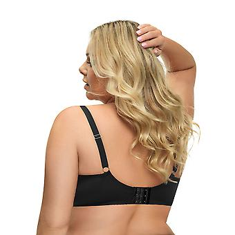 Gorsenia K509 Women's Fantasia Black and Grey Lace Padded Underwired Full Cup Bra