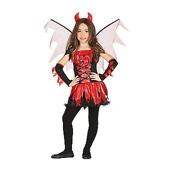 Mädchen Kinder Feuer Teufel Halloween Fancy Kleid Kostüm