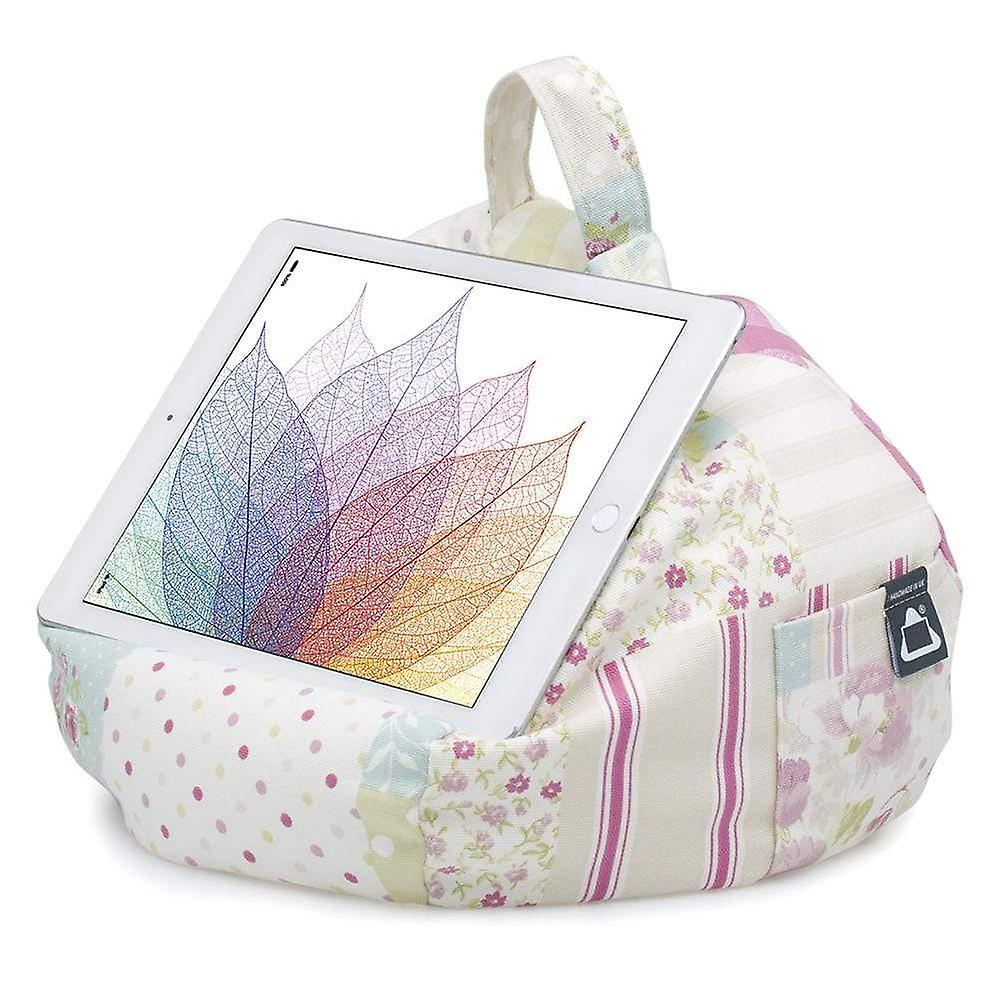IPad, tablet & ereader bean bag stand-by ibeani - vintage patchwork