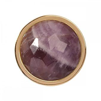 Nikki Lissoni Amethyst Small Gold Plated Coin C1321GS