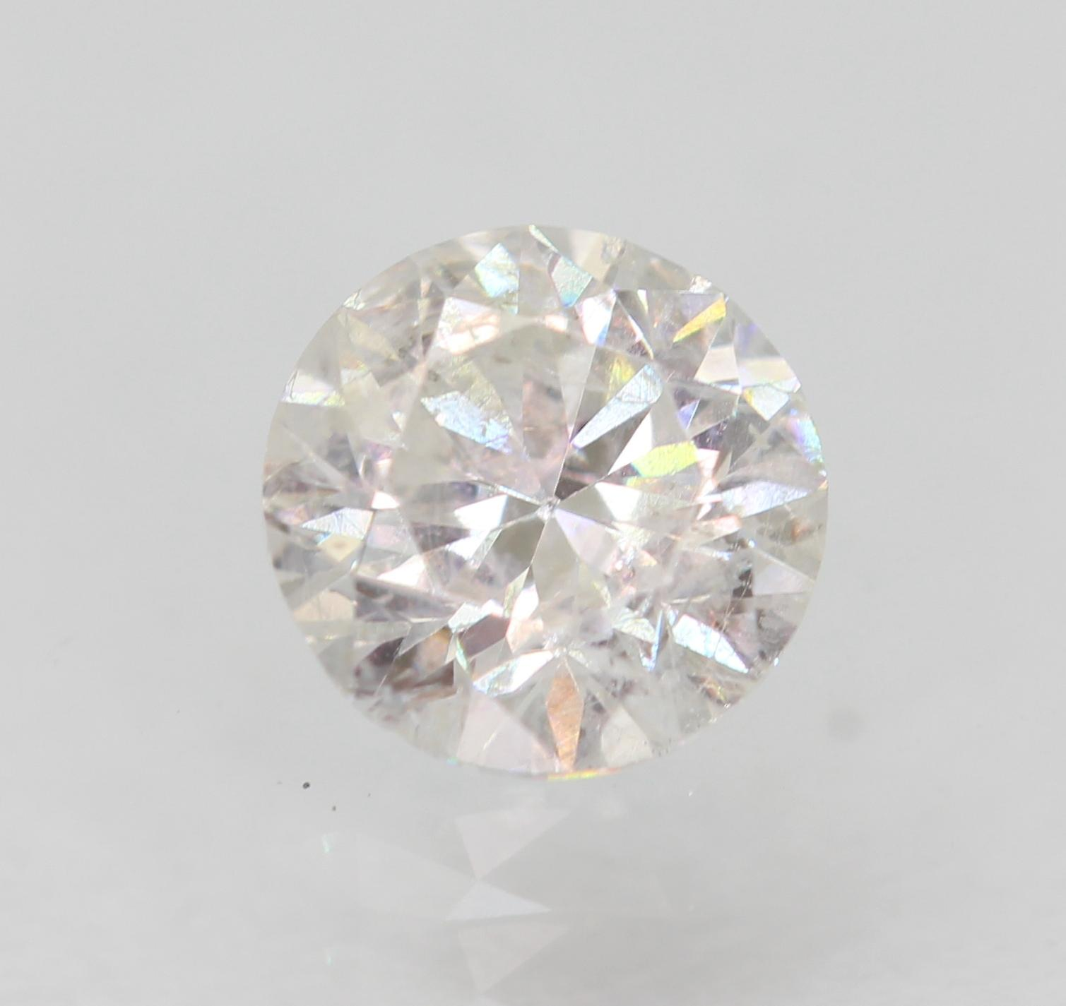 Certified 0.52 Carat F SI2 Round Brilliant Enhanced Natural Loose Diamond 5.03mm