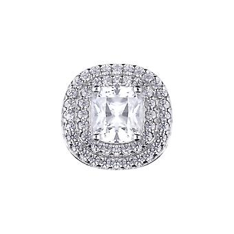 Diamonfire Cushion Cut Double Halo Cubic Zirconia Pendant P4785