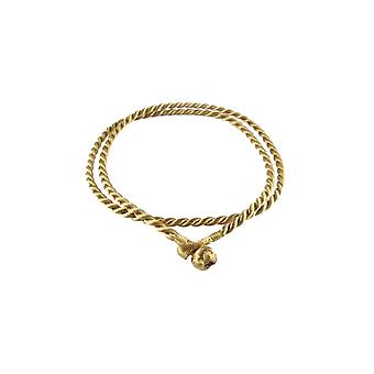 Storywheels Gold Rayon Cord 42cm Necklace RCGOLD