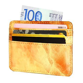 TOP Card holder slimmed ID-pocket wallet Orange Marble