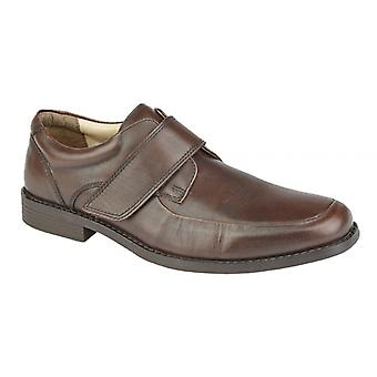 TredFlex Tristen Mens Leather Touch Fasten Casual Shoe Mocha
