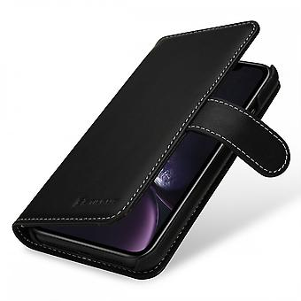 Case For IPhone Xr Card Holder Talis Black Nappa In True Leather
