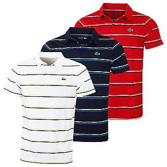 Lacoste Herren Kurzarm Golf gerippten Kragen technische Polo Shirt