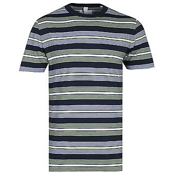 Albam Multi-Colour Stripe Kurzarm T-Shirt