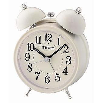 Seiko klocka väckarklocka med ljus och Snooze - grädde