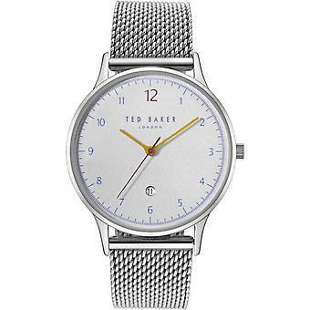 Ted Baker Ethan Quartz Silver Dial Mesh Stainless Steel Bracelet Mens Watch TE50519007