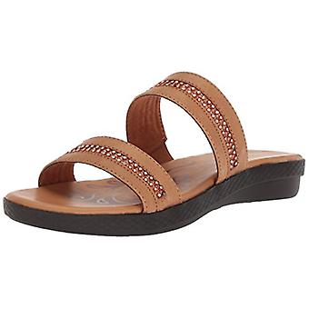 Easy Street Womens 30-8274 Cuir Open Toe Casual Slide Sandals