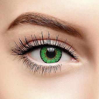 grønn tri tone farget kontaktlinser (daglig)