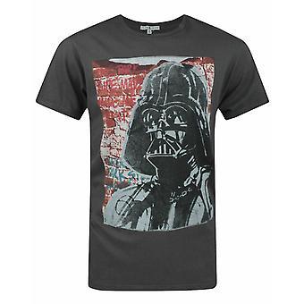 Junk Food Star Wars Vader Graffiti Men's Camiseta