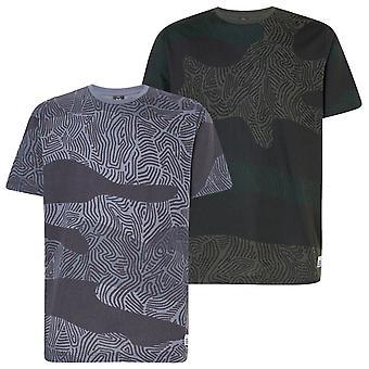 Oakley Mens Camo Lijnen Print Korte Mouw T-shirt