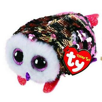 TY Flippable Sequins Checks Owl Teeny Ty