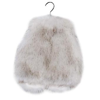 benetia fete vestă faux fur vestă alb dimensiune 5