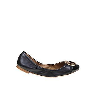 Tory Burch 63176004 Women's Black Leather Flats