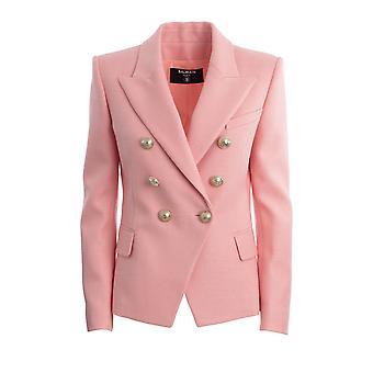 Balmain Tf17110v0904fb Women's Pink Viscose Blazer
