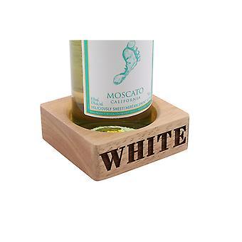 CGB Giftware Loft White Wine Carved Bottle Holder
