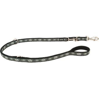 Red Dingo Style Strap Black Paw Impression (Dogs , Collars, Leads and Harnesses , Leads)