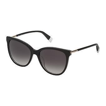 Furla SFU232 09G5 Glitter Black/Smoke Gradient Sunglasses