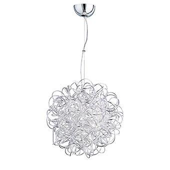 WOFI Além elegante luz pendente teto led em acabamento prata 6366.01.70.7000