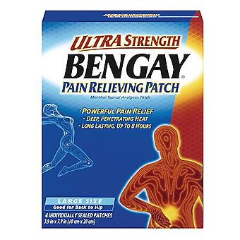 Bengay ultra strength pain relieving patch, large for back to hip, 4 ea