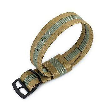 Strapcode n.a.t.o watch strap 20mm miltat raf n7 nato watch strap, sand and military green, pvd black ladder lock slider buckle