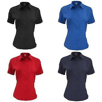 Henbury Womens/Ladies Wicking Short Sleeve Work Shirt