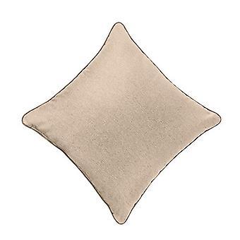 "Latte Soft Wool Feel 18"" Hollowfibre Filled Scatter Sofa Kissen mit kontrastierenden Rohren"