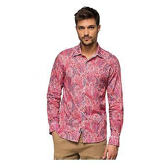 Replay Jeans Replay Paisley Print Shirt Pink