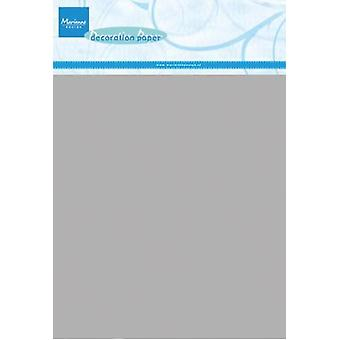 Marianne Design Decoration paper - silver 5 sheets CA3127