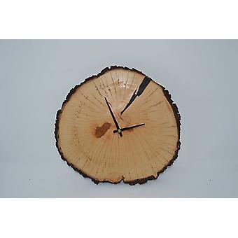 Holz Wanduhr Holzuhr Uhr Birne 31x30 cm Baum Baumscheibenuhr Holz Uhr Natur Pur Handarbeit Unikat handmade Made in Austria Uhr wallclock clock Geschenk Geschenkidee Holzdeko Dekoration Deko Holzdekoration