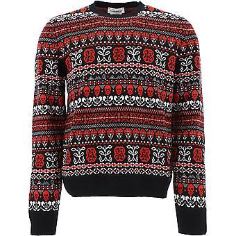 Alexander Mcqueen 603250q1alt1064 Männer's Multicolor Wollpullover