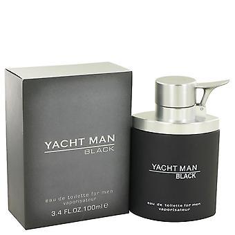 Yacht man black eau de toilette spray by myrurgia   502564 100 ml