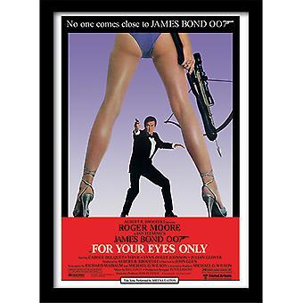 James Bond 007 Silmiesi vain yksi arkki kehystetty levy 30 * 40cm