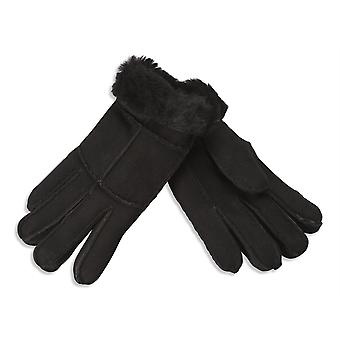 Nordvek Womens Merino Sheepskin Gloves - Soft Suede Turnover Cuff # 321-100