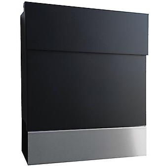 RADIUS letterbox Letterman 5 black with stainless steel paper role - 560 F + 505 L