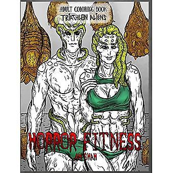 Dospelý maľovanky horor fitness: triatlon cudzincov-horor fitness