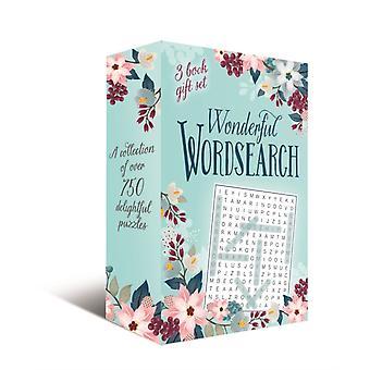 Wonderful wordsearch 3Book gift sett en samling av over 750 herlige gåter av Eric Saunders
