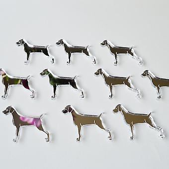 Weimaraner Hund Mini Handwerk Größe Acryl Spiegel (10Pk)