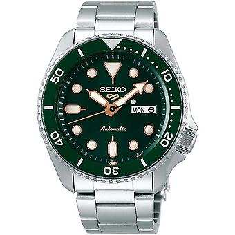 Seiko 5 Sport grün Zifferblatt Silber Edelstahl Armband automatische Männer's Uhr SRPD63K1