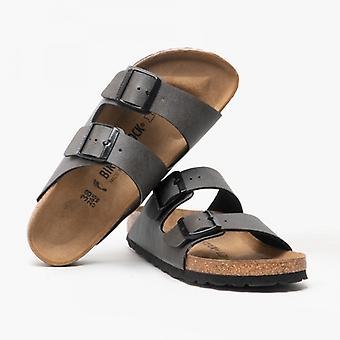 Birkenstock Arizona 1000127 (nar) Dames Birko-flor Deux sandales à bretelles Anthracite